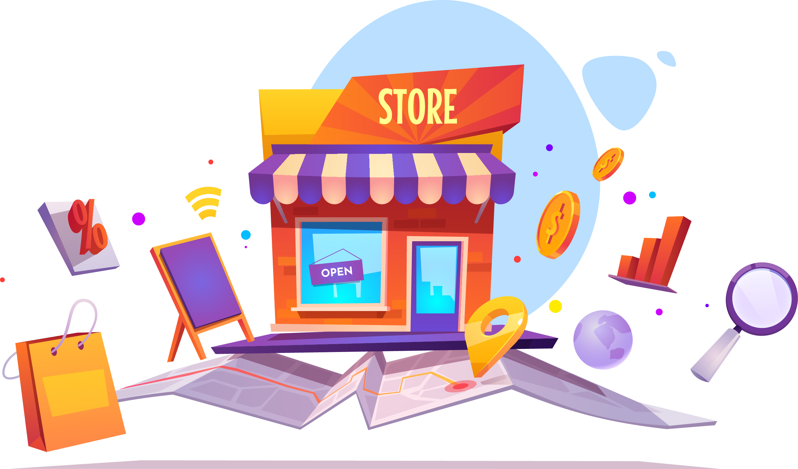 Geo-targeted store